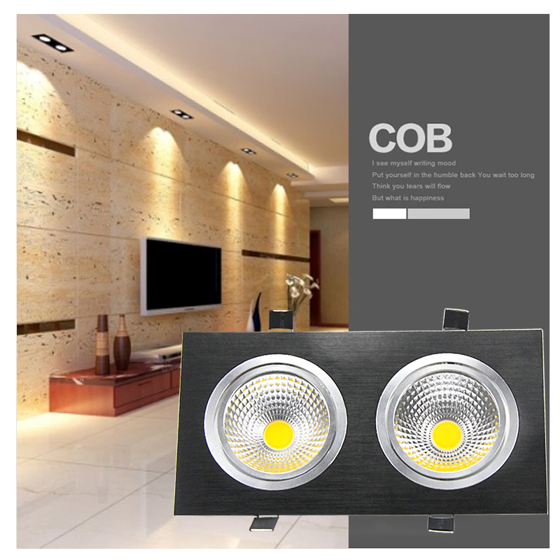 Us 178 75 10pcs Lot 30w Recessed Double Head Cob Led Downlight Spot Light Ceiling Down Lamp In Downlights From Lights Lighting