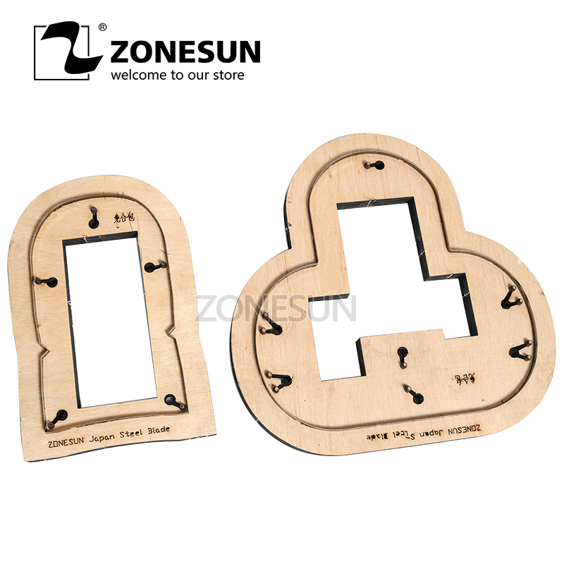 ZONESUN deux-en-un porte-monnaie pochette personnalisé en cuir coupe die artisanat outil poinçon cutter moule papier pour bricolage porte-monnaie coupe die