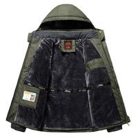 Winter Fleece Military Jackets Men Windproof Waterproof Outwear Parka Mens Windbreaker Warm Raincoat Coat Plus Size 9XL Overcoat