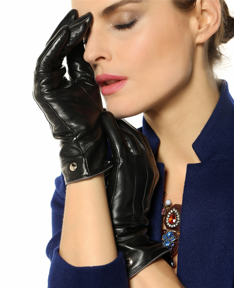 Womens leather gloves reviews - Elma Women S Touch Screen Italian Nappa Leather Winter Texting Gloves Pure Cashmere Warm Lining