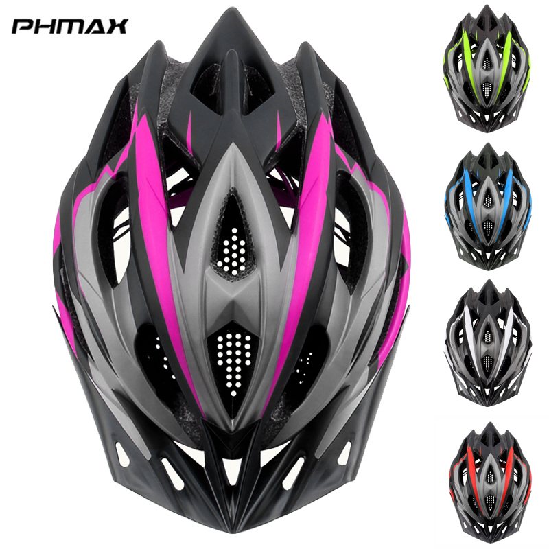 PHMAX Pro Women Bicycle Helmets 2019 Ultralight MTB Bike Helmet  Mountain Road Bike Integrally Molded Cycling Helmet