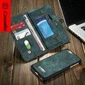 CaseMe Бренд Для iPhone 6 Plus Leather Case, Vintage 2 в 1 Дизайн Съемная Задняя Крышка, бумажник Стиль для Samsung Galaxy S7edge
