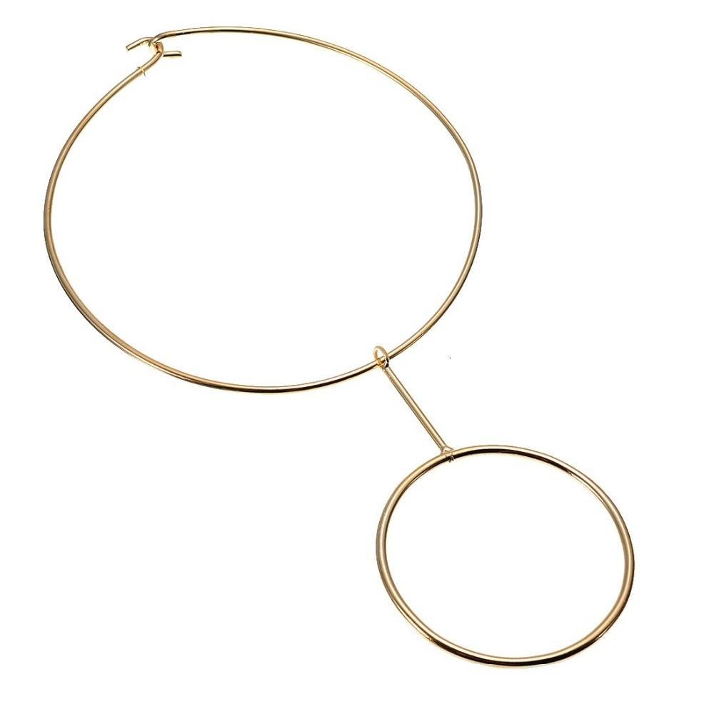BK Fashion Jewelry Grey Gold Round Collar Multicolor Bib Party Necklace