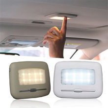 Automobile Reading Lights Car Highly Bright LED Touch Type Night Light 6500K Pure White 3500K Warm Yellow Car LED Lamp Bulbs(China)