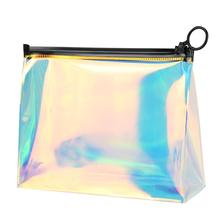 Cosmetic Storage Bag Waterproof Ladies Fashion Zipper Transparent Pouch Travel Makeup Portable Tote Brush Make-up Wash