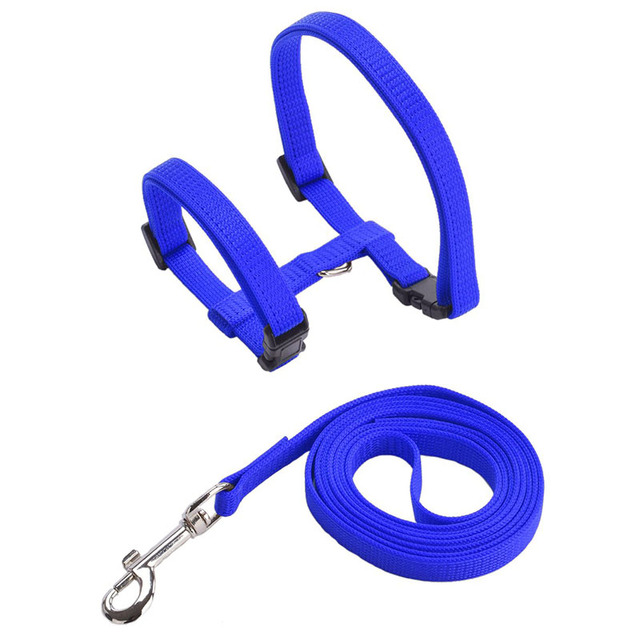 Cat's Solid Color Harness and Leash Set