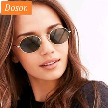 Newest Oval Vintage Sunglasses For Women Men Driving Mirror Sun Glasses Female Unisex Shades Metal Frame Eyewear Oculos De Sol(China)