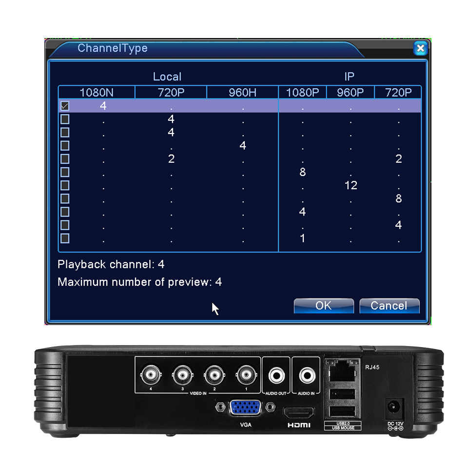 BESDER 4 Kanaals 8 Kanaals AHD DVR Surveillance Beveiliging CCTV Recorder DVR 4CH 720 P/8CH 1080N Hybride DVR voor Analoge AHD IP