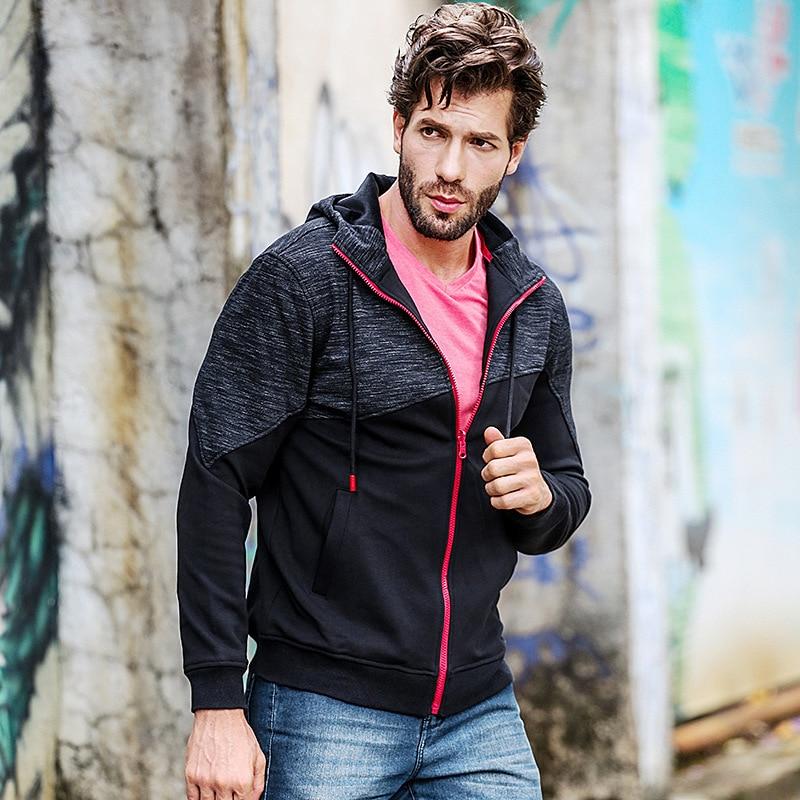 JOZSI New Autumn Winter Men's 2018 Long Sleeve Splice Zipper Men Hoodies Mens Casual Clothing
