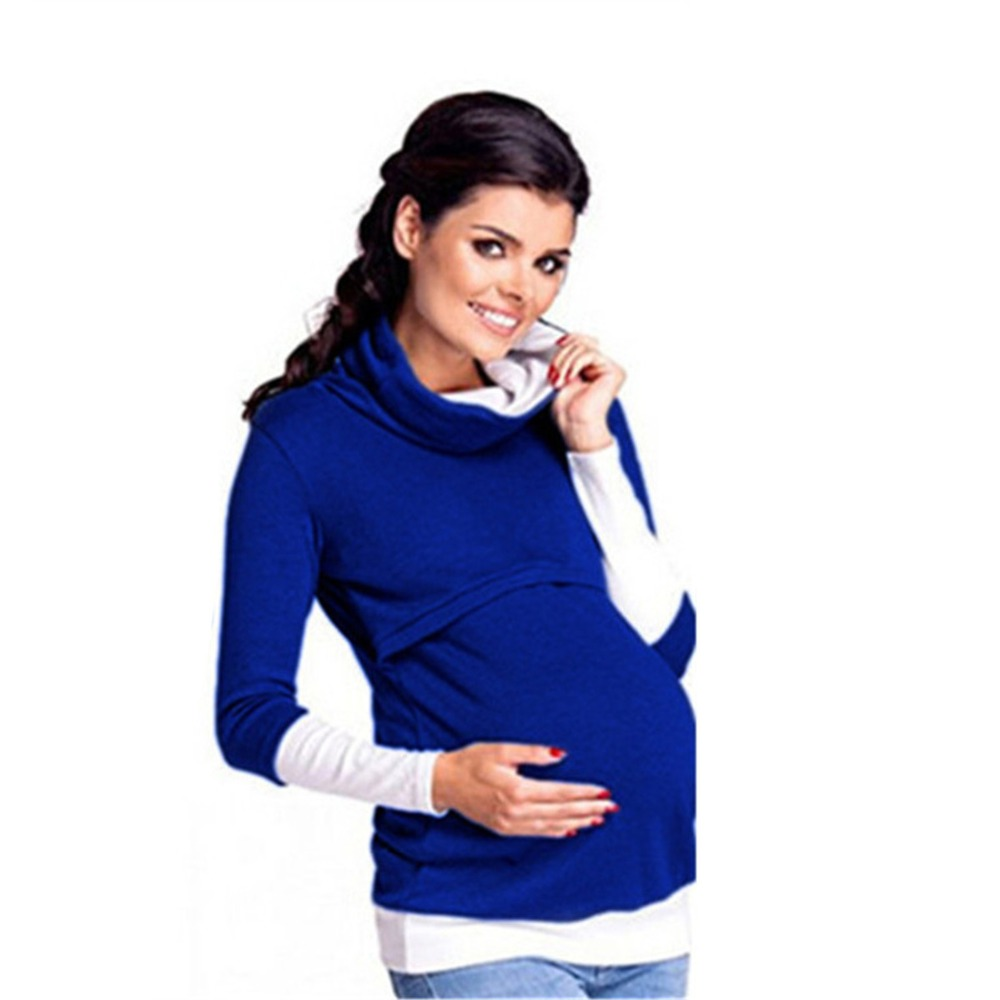 pullover warm coats clothes style easy breast feeding maternity pregnant autumn mother tops women mommy nursing hoodies jumper