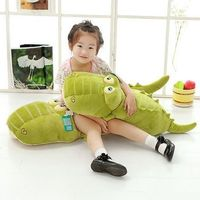 65 80 105cm Cartoon Giant Large Crocodile Sleeping Pillow Stuffed Down Cotton Doll For Children S
