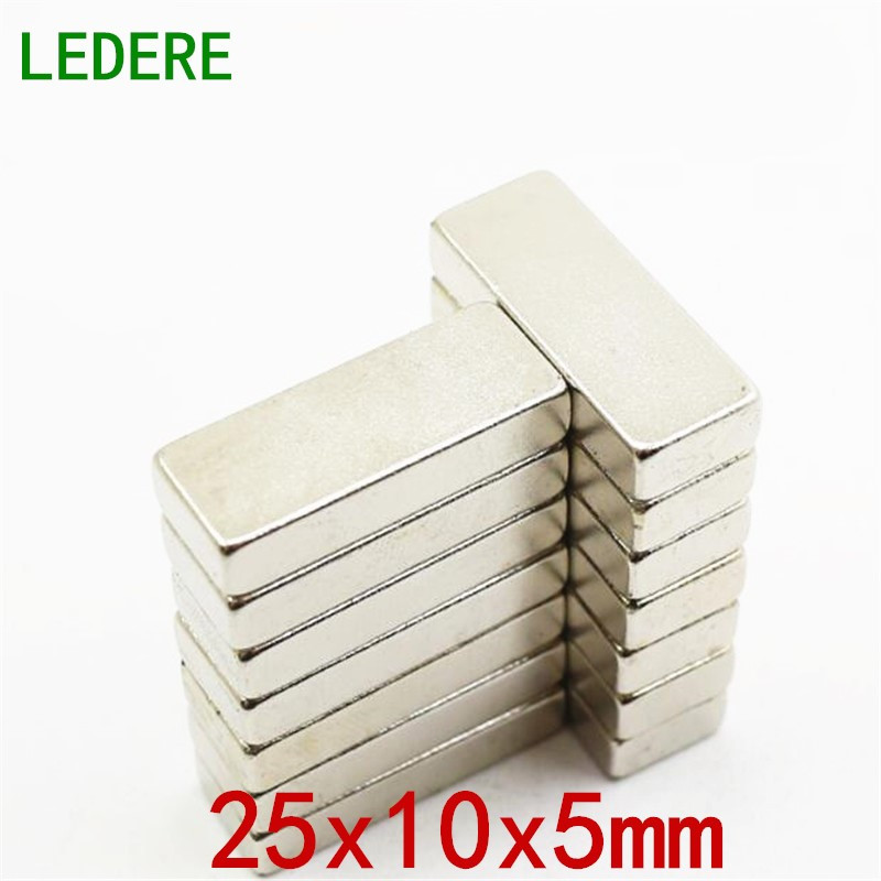 LEDERE 5/10pcs magnet 25x10x5 Strong magnets N35 25x10x5mm rare earth neodymium magnet 25mm*10mm*5mm for mercedes benz cla class w117 cla180 cla200 cla250 cla45 amg carbon fiber front lip splitter flap canard fits sporty car amg
