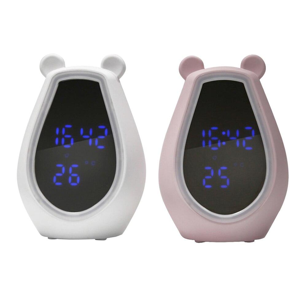 LED électronique réveil numérique écran tactile maquillage miroir horloge Multi fonction Bluetooth musique jouer alarme bureau horloge