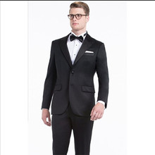 tuxedo for men suits black groom wear 2017 western slim fit suit tailor two button for wedding prom dress