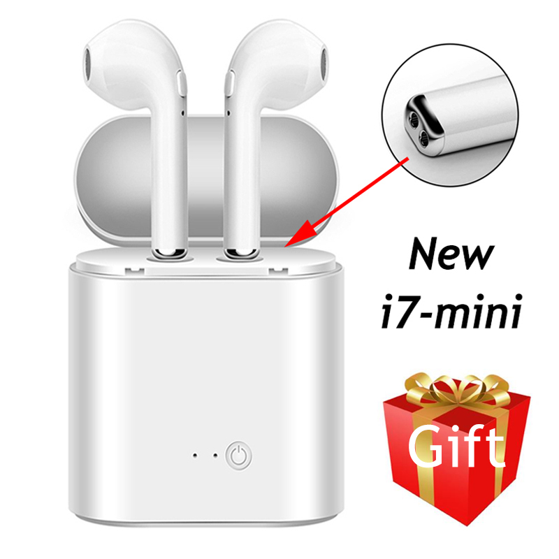 i7 Mini Bluetooth Earphone Stereo Wireless Earbuds For iPhone Samsung S8 Xiaomi 8 Huawei P20 Sony Sport Music Headset Head Phone