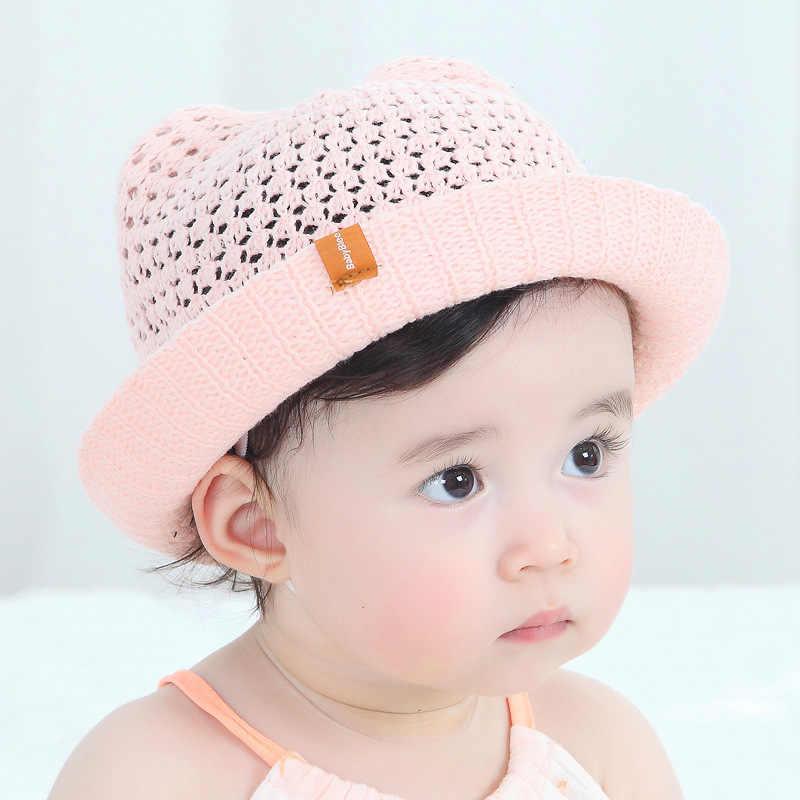 ec58256d820 ideacherry Fashion Straw Hats Ears Design Baby Hats For Girls Children Sun  Summer Cap Bucket Boys