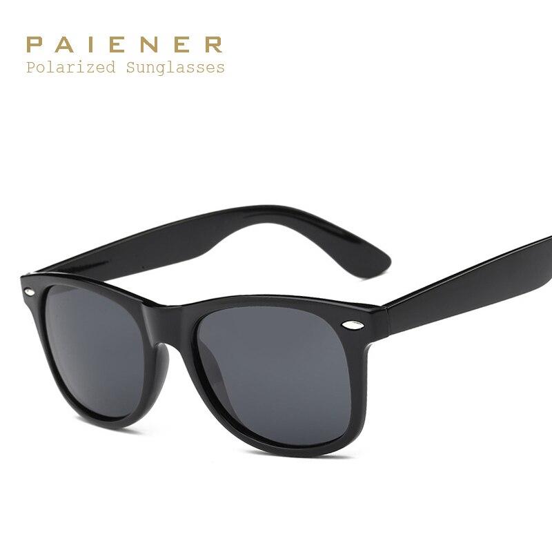 db03937055 PAIENER Classic 2140 Gafas De Sol hombres mujeres marca polarizadas Sol  vidrio HD polarizado lente Geek Oculos De Sol con accesorios en De los  hombres gafas ...