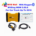 With Keygen 2016 New WOW 5.00.8 MVDiag With Bluetooth Universal CAR TRUCK Diagnostic Tool Multi Vehicle Diag MVD 14 Languages