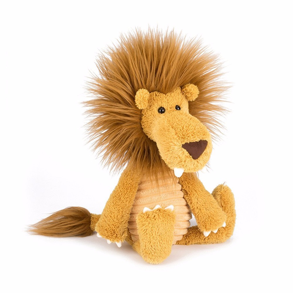 Lazada 35CM Lion Plush Toy Soft Stuffed Cartoon Lion Dolls Animal Horse High Quality Gift for Children hi ce new arrival mechanical horse kawaii animal ride on horse lion rode on horse kids toy for children adult new year gifts