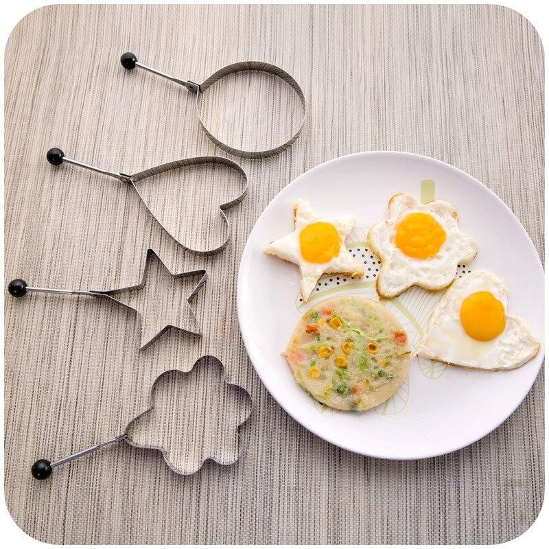 4 Unids/lote molde de huevo de Acero Inoxidable herramientas de Huevo de Cook Fr