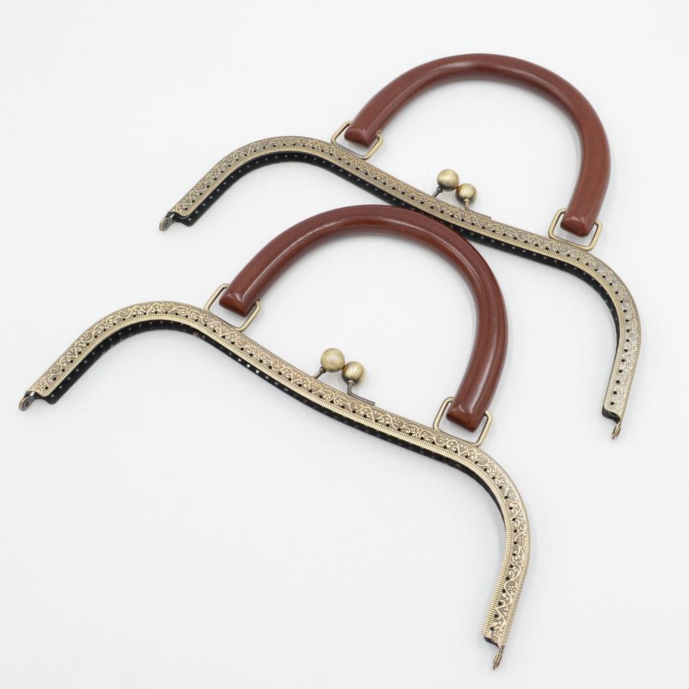 Kiss Clasp Bdthooo 27cm Metal Purse Frame Solid Wooden Handle Diy Kiss Clasp Lock For Women Clutch Handmade Handbag Antique Bag Accessories