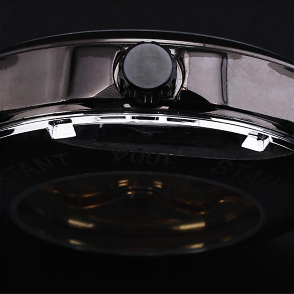 US $19.63 40% OFF|Gewinner Schwarz Skeleton Designer Blau Gravur Uhr Männer Stahlband Herrenuhren Top marke Luxus Automatische Uhr Montre Homme in