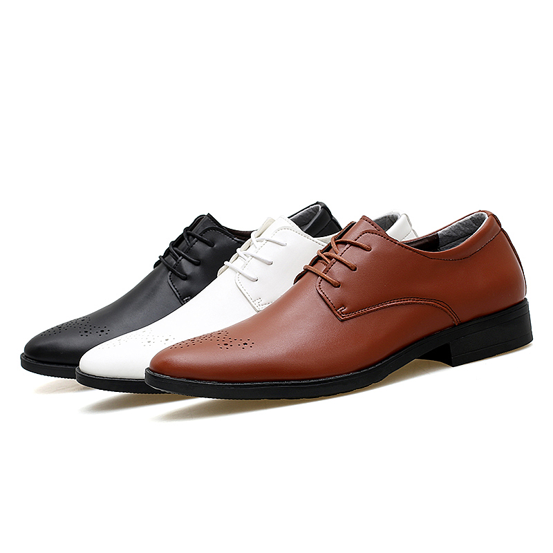 f1ec6f771 simple classic brogue style mens business dress shoes men black brown white  color office work leather shoes gents derby shoes-in Formal Shoes from Shoes  on ...