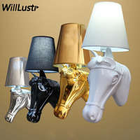 horse wall lamp modern wall sconce wall light The horse lamp Ma Tau bedside lamps bedroom hotel restaurant shop sitting room