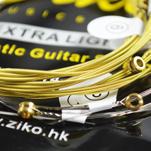 купить ZIKO 6 Strings/set Acoustic Guitar Strings Musical Instruments Acoustic Guitar String Guitar Parts Accessories DAG 010-011 дешево