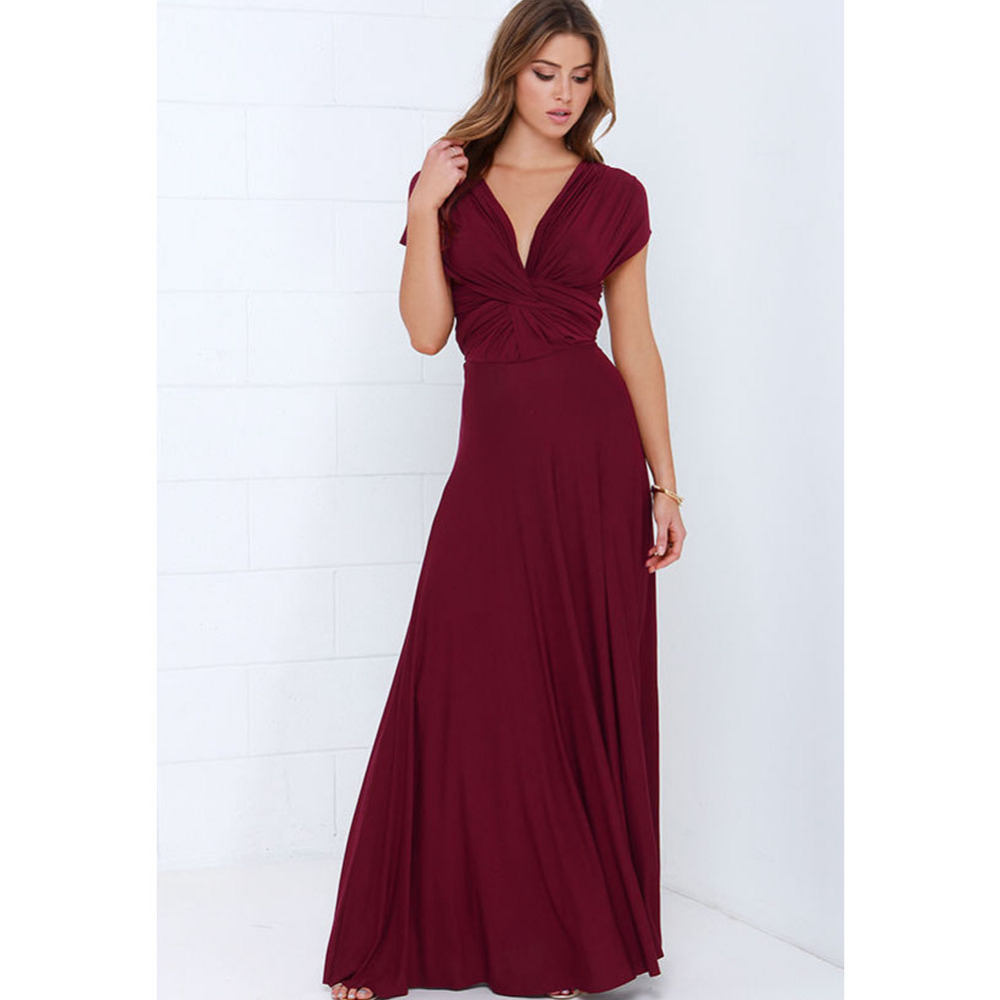 Neue Winter Sexy Frauen Party Maxi Kleid verband Lang Kleid Sexy ...