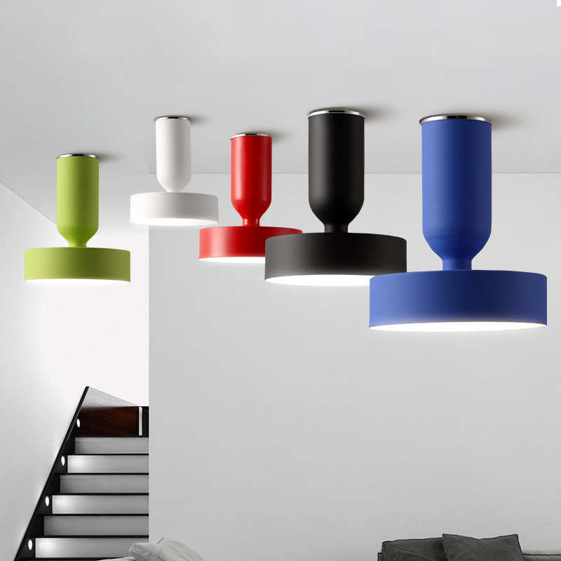 Nordic Aisle Ceiling Lamp Bedroom Lamp Simple Modern Aluminum Restaurant Light Coffee Shop Living Room Light Free Shipping nordic creative color restaurant chandelier personality living room bedroom study light simple coffee shop lamp free shipping