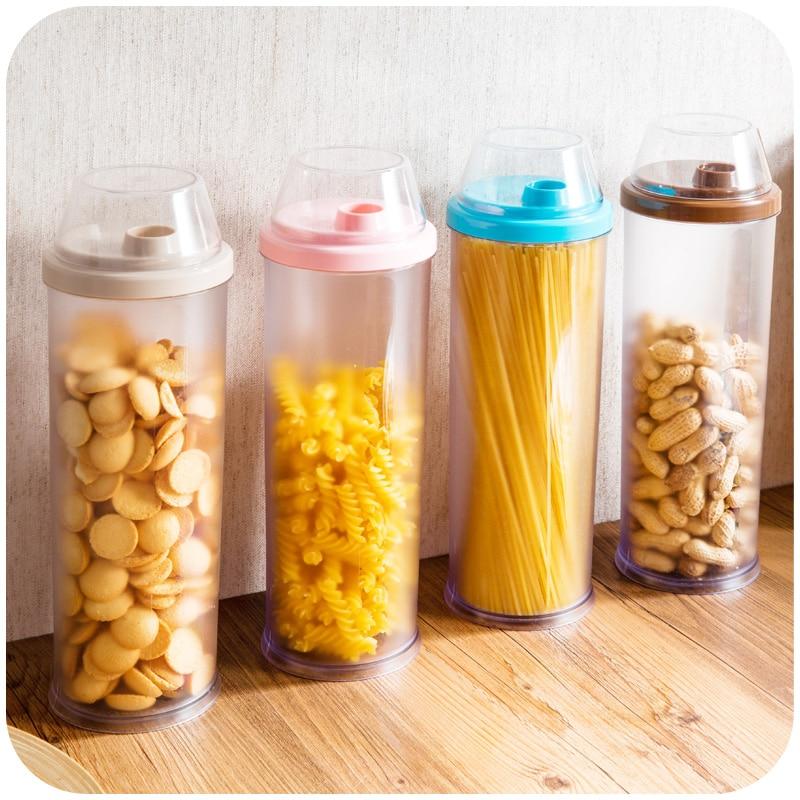 1 Pcs Plastic Sealed Spaghetti Storage Container Pasta High