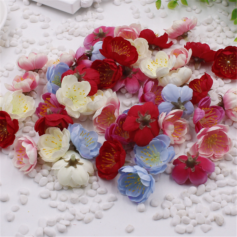 Fabric silk flowers reviews online shopping fabric silk flowers 10pcs mini fabric cherry plum blossom artificial flower silk baby breath floral bouquettable arrangements weddding decorations dhlflorist Image collections