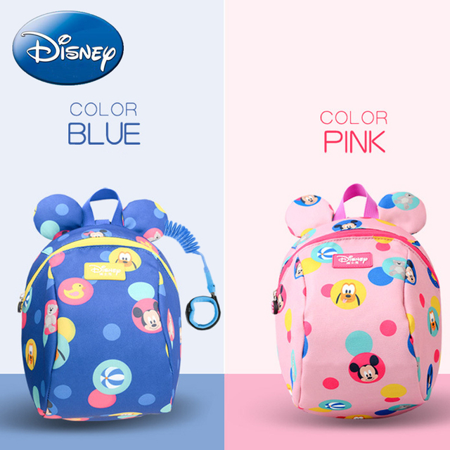 Disney Kids Backpack 2019 New Leashes Child Anti-lost Wrist Link Safety  Activity Backpacks Schoolbag Walking Strap Leashes Bag c7fc6017a9de9