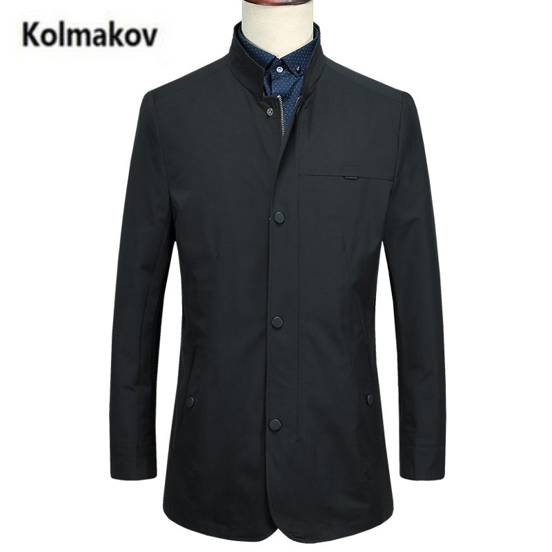 KOLMAKOV 2017 new autumn high quality men s Business Casual Jackets,fashion stand collar trench coat jacket men,full size M-3XL