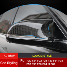Replacement Carbon Fiber Mirror Assembly Covers Caps Shell for BMW F20 F21 F22 F23 F30 F31 F32 F33 F34 F36 i3 Series F87 E84