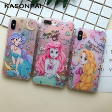 Cartoon Alice Princess Mermaid Phone Case For iPhon
