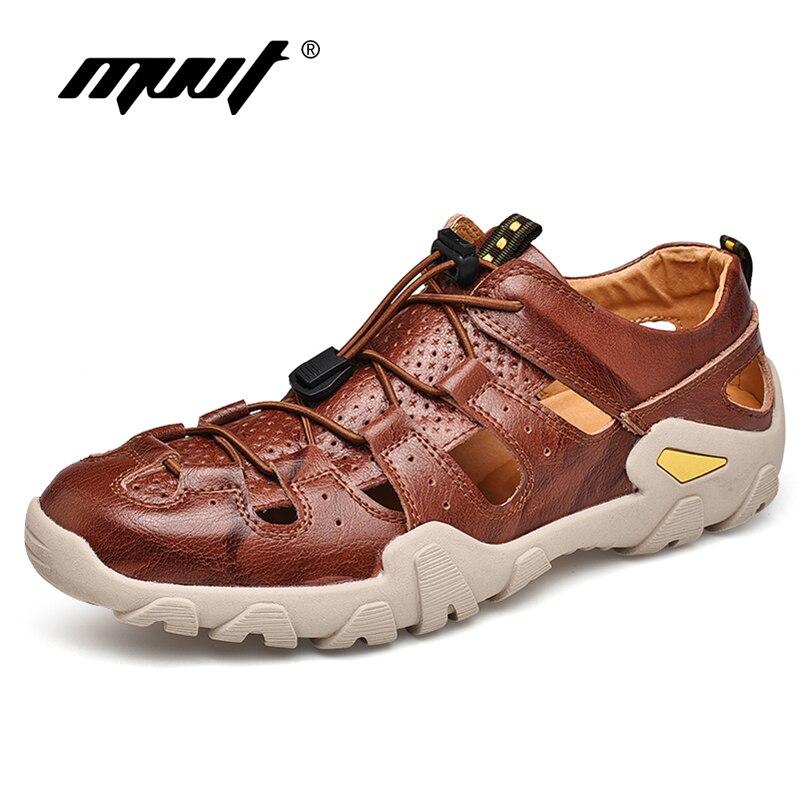 2019 Außen Echtem Leder Sandalen Männer Sommer Schuhe Mode Komfort Männer Strand Sandalen Leder Männer Schuhe Plus Größe Lassen Sie Unsere Waren In Die Welt Gehen