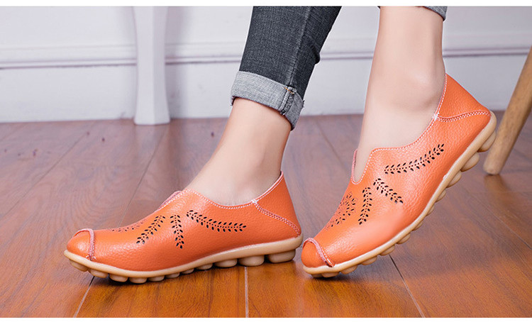 AH 1866-1-2019 Summer Women Loafers Genuine Leather Woman Shoes-7