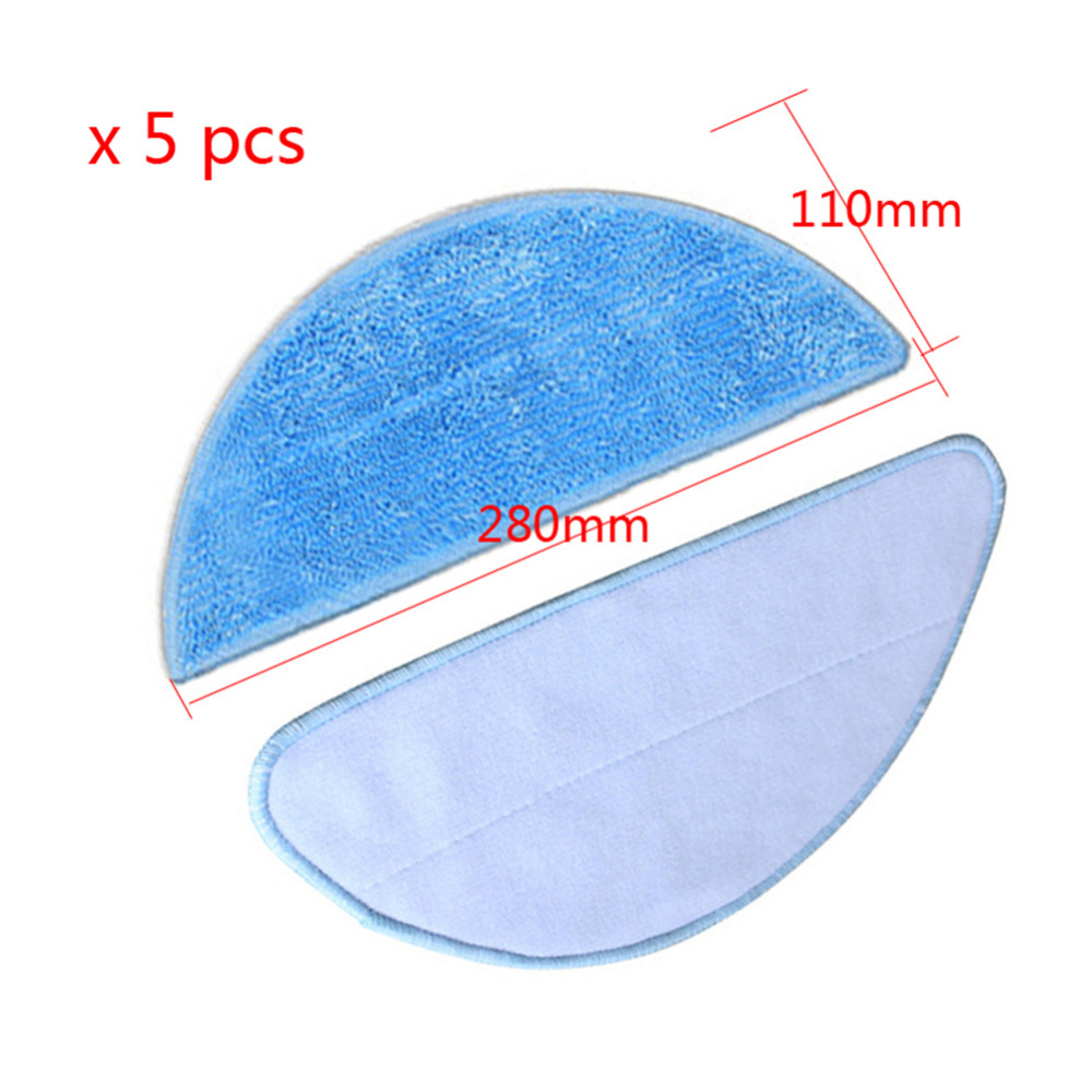 5 pcs Mop Cloth for CHUWI V3+ ilife v5 pro V5 CW310 for chuwi ilife v5 intelligent robotic vacuum cleaner