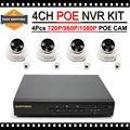 HD 1080 P POE Cámara IP Sistema de Vigilancia de Seguridad de Vídeo PoE NVR Grabador Kit de Sistema de $ number CANALES PoE NVR Sistema CCTV