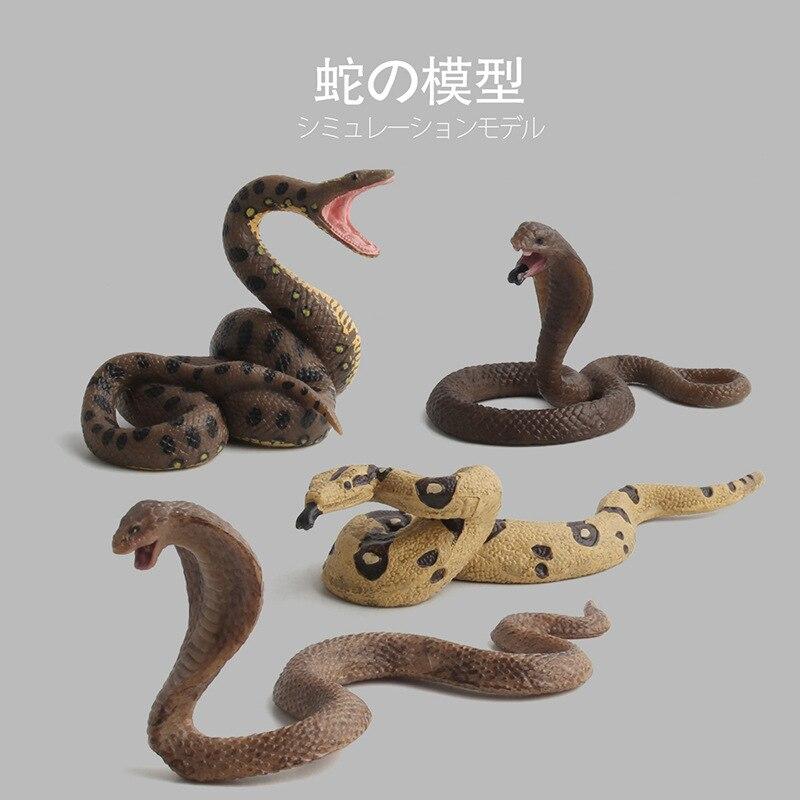 Toy Snake-Model Action-Figure Cobra Animal Lifelike Rattlesnake Collection for Kid Gift