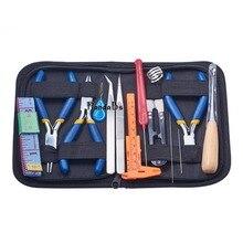 14 Шт. DIY Ювелирных Кусачки Repair Tool Sets, с помощью Плоскогубцев, Scissor, пинцет, верньер Суппорт, Рулетка и Булавки, смешанный Цвет