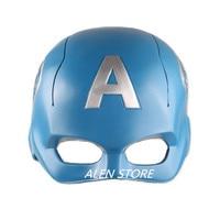 ALEN Captain America 1:1 blue HAT Helmet Head Cover Mask vizor Marvel Avengers cap chapeau DC batman iron man PVC Figure Model