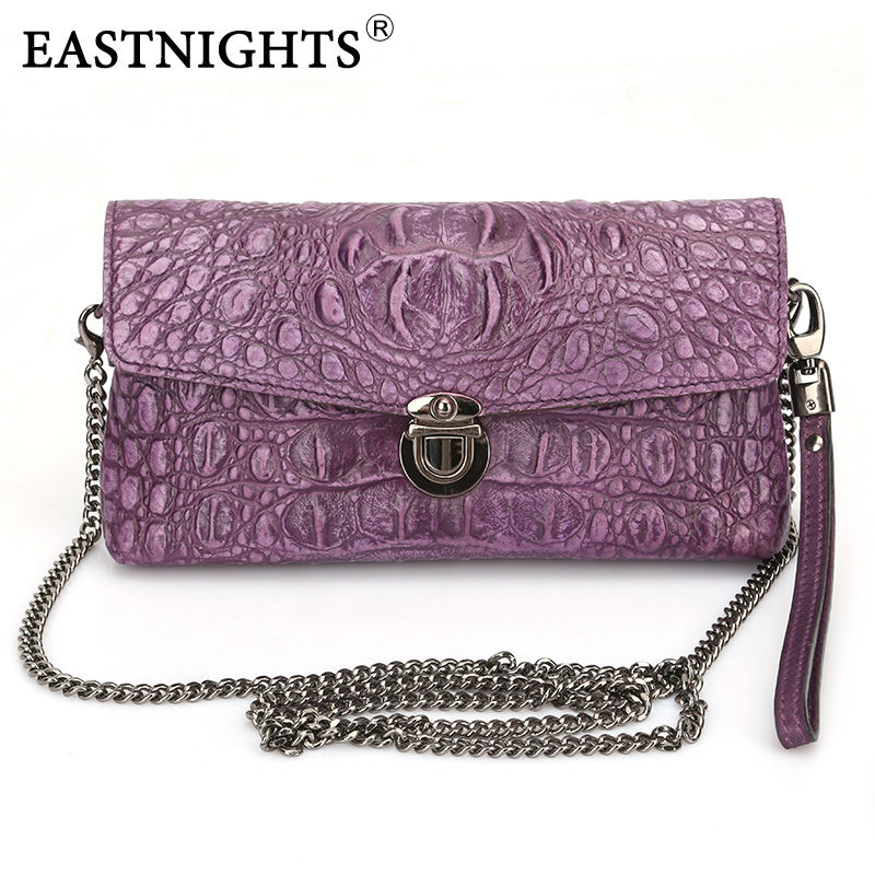 EASTNIGHTS Famous Brand Genuine Leather Women Handbags Fashion Clutches Women Crossbody Shoulder Messenger Bags Chain Bag TW2519 eu uk standard sesoo remote control switch 3 gang 1 way crystal glass switch panel wall light touch switch led blue indicator