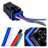 1set DC 12v 40A Auto Relay 5 Pin Waterproof Integrated Wired Automobile Relay + Holder With 105mm Length Wires