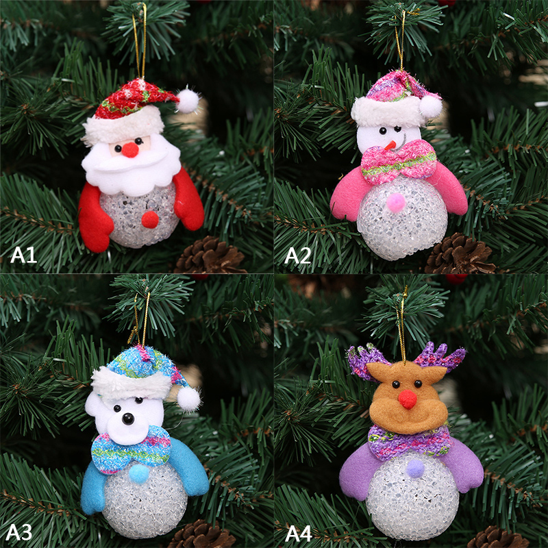 cute santa claus led fiber optic nightlight christmas snowman lamp light xmas gift mini table christmas tree decor for home 2017 in pendant drop ornaments