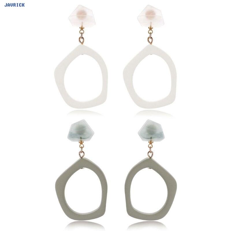 JAVRICK Acetate Earrings Dangle Hollow Korea Geometric Drop Earring New Fashion Vintage Women Jewelry Statement