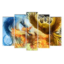 Home Decor For Living Room HD Printed Pictures 5 Pieces Animal Canvas Painting Vintage Poster Wall Art