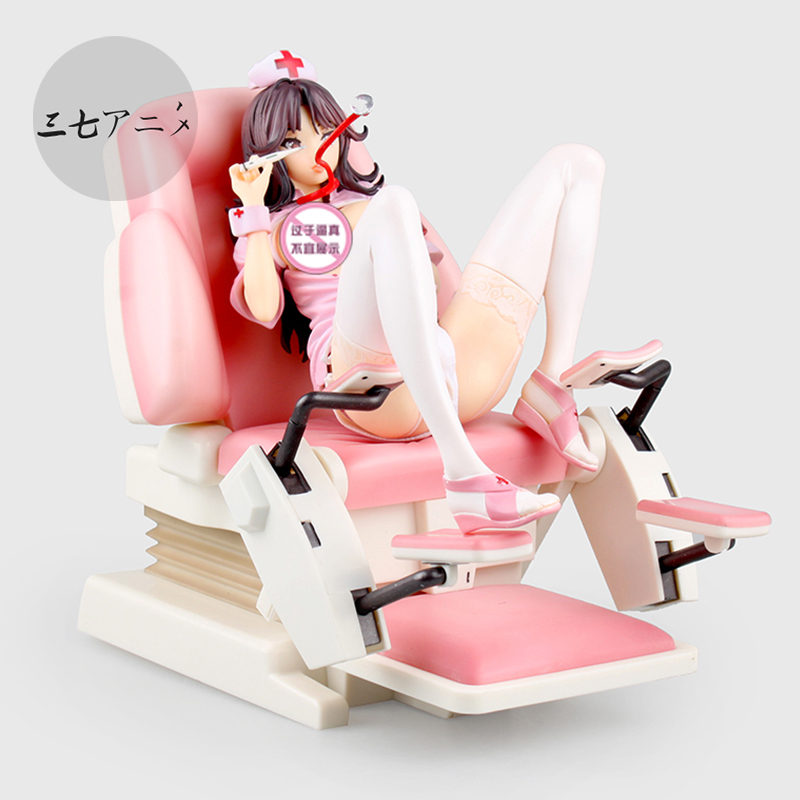 22cm Japanese sexy anime figure Native Saitom Nurse Momoi Figure Examination Chair Ver.Scale PVC Sexy Figure Model anime native nurse momoi figurine 1 7 pvc sexy figure model toys